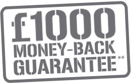 £1,000 money-back guarantee in the unlikely event of a break in, where the lock is the point of entry**.