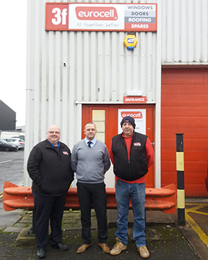 Andy Dawson (Branch Sales Manager), Fraser Watt (Regional Manager) and Mark Mallinder (Branch Manager)