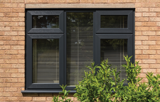 dark coloured modus upvc windows