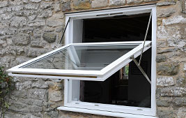 white upvc tilt and turn windows
