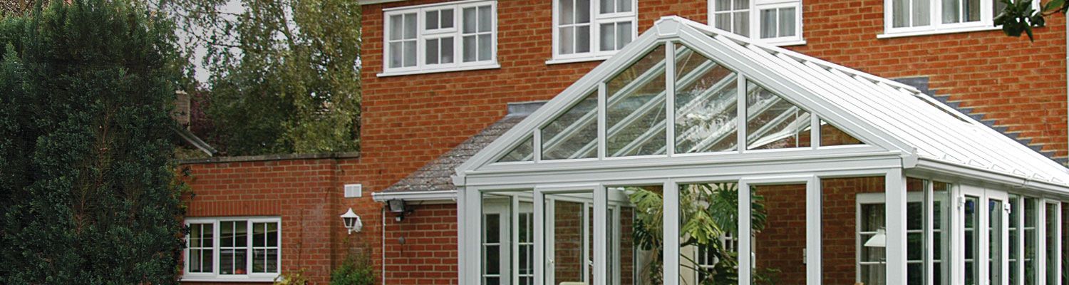 large white gable ended conservatory