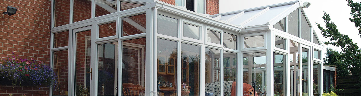 large white upvc gable ended conservatory