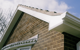 white upvc capping board for gable shaped roof
