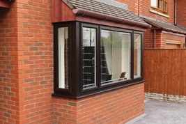 upvc coloured windows with window sill