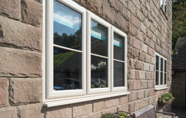 triple white upvc windows