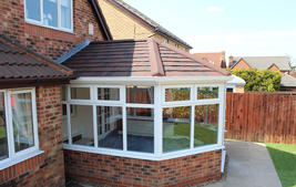 upvc conservatory with tiled roof