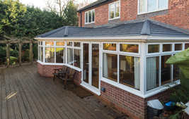 equinox tiled roof for white upvc conservatory