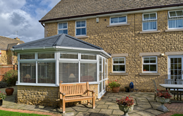 equinox tiled roof on conservatory