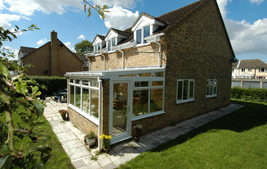 white upvc lean to conservatory