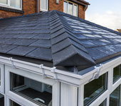 Equinox conservatory roof tiles improve thermal efficiency