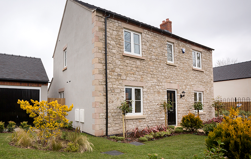 modus windows fitted in a georgian stone house