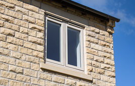 double coloured upvc modus window