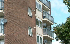white upvc reversible windows for high rise building