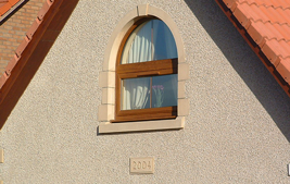 coloured upvc rounded reversible window