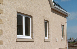 double and single white upvc reversible windows