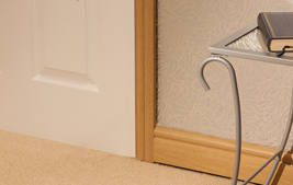 internal wood coloured upvc skirting boards