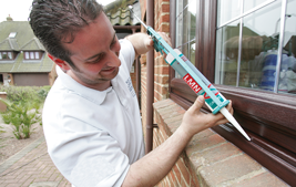 fitting upvc windows with silicon adhesive