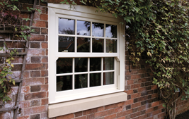 white upvc vertical sliding window