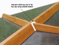 Seal jack top capping joints. Only use suitable sealant with self-cleaning glass. We recommend Soudal SMX 506 (available from Eurocell branches).