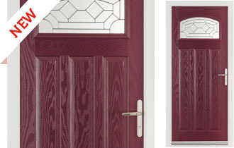 The Hartington offers a modern and stylish take on a classic 1930's style front door. The arched top glazing and triple vertical panels help create a traditional and imposing entrance to your home. A choice of modern and classic glass styles ensure this door retains a timeless look.