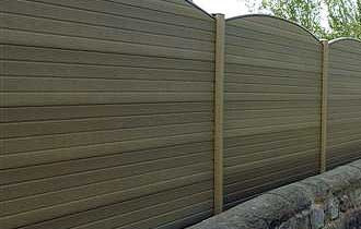 upvc fence that looks like wood