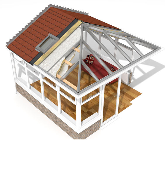 Equinox tiled roofs turn conservatories into rooms