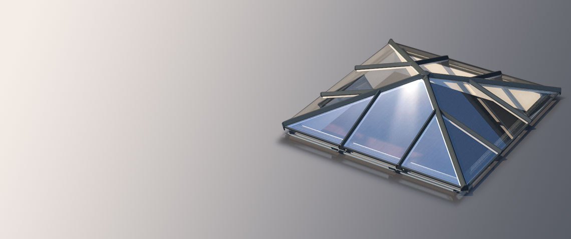 Skypod Sq square lantern roof