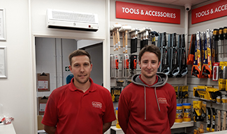 Paul Clayton (Trade Counter Assistant), Dean Pemberton (Branch Manager)