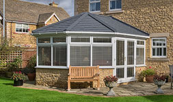 Tiled conservatory roofs, classic styles or bespoke designs.