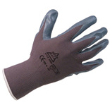 Black Nitrile Foam Coated Knitwrist Glov..