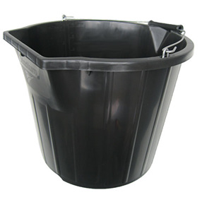 Heavy Duty Pour and Scoop Black Bucket