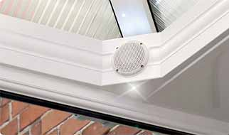 Integrated Speakers Boost Conservatory Sales