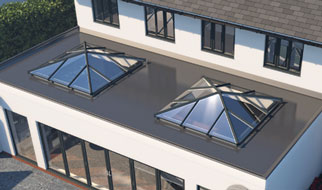 Skypod Square lantern roof from above