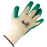 Green Latex Palm Builders Grip Gloves
