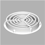 70MM CIRCULAR SOFFIT VENT WHITE