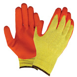 Orange Latex Palm Builders Grip Gloves
