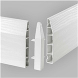 100mm Chamfered Skirting External Corner..