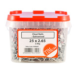 Galvanised Clout Nails - 2.5kg