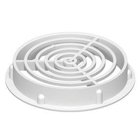 70mm Circular Soffit Vent in White
