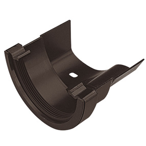 Round To Ogee Gutter Adaptor in Black