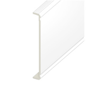 350mm Ogee Capping Board in White x 5m