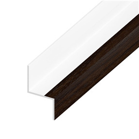 Cladding Drip Trim in Rosewood on White x 5m