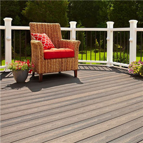 Grooved Edge Decking Board x 3.66m in Latte