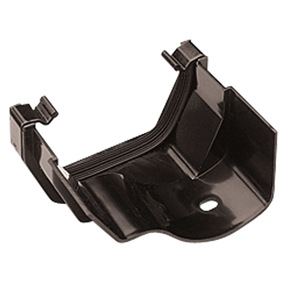 Square to Ogee Gutter Adaptor Left in Black