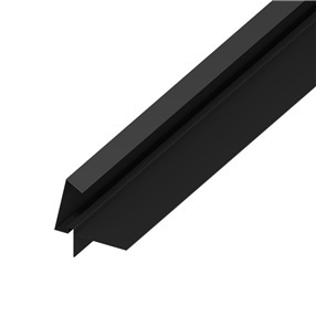 Uni-Line Cont Dry Verge T-Strip in Black x 5m