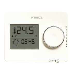 Warmup Underfloor Heating Elements Thermostat in Porcelain White