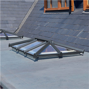 3 Bar Skypod Lantern Roof 1.5m x 3m in Anthracite Grey