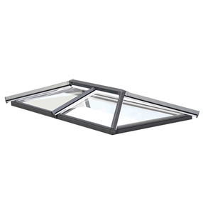 2 Bar Skypod Lantern Roof 1.25m x 2m in Anthracite Grey