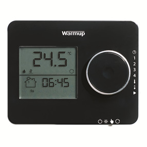 Warmup Underfloor Heating Elements Thermostat in Piano Black