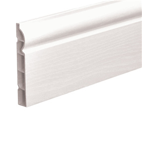 150mm Ogee Skirting Board in White Satin x 5m